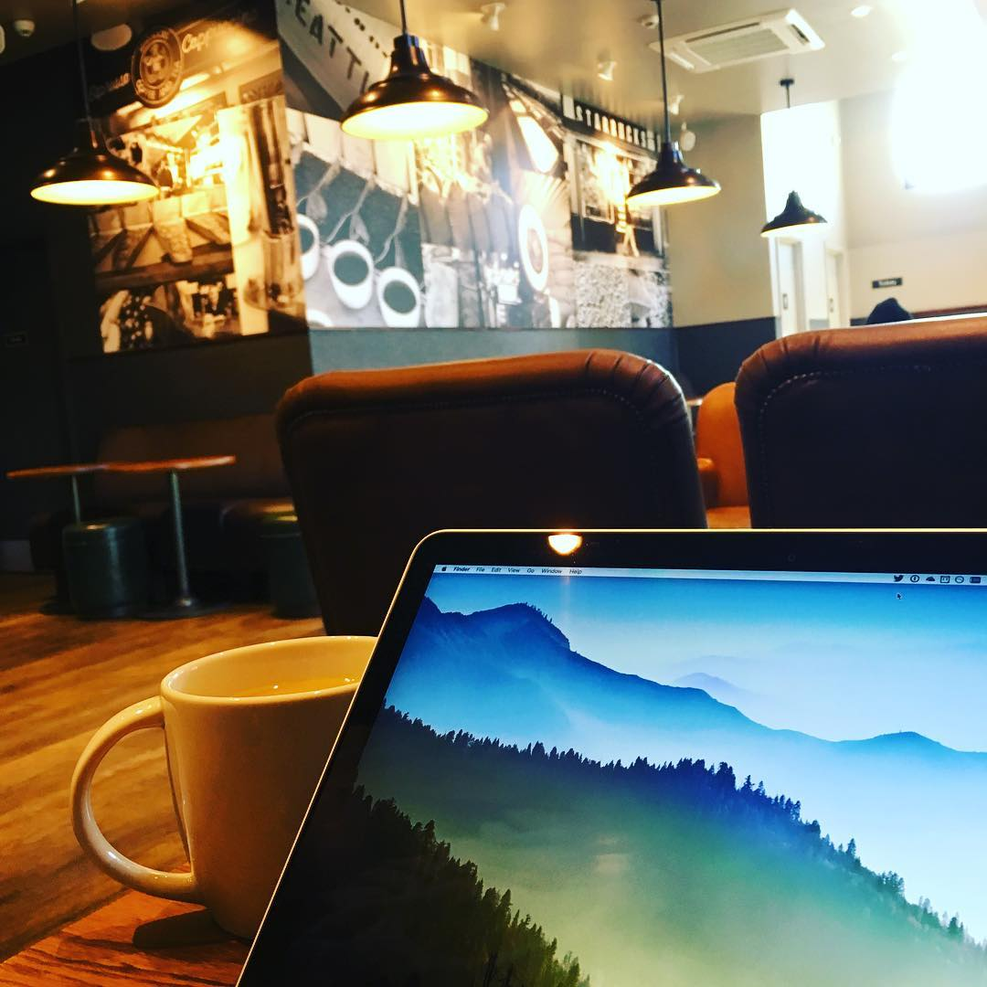 Coffee shop working this morning