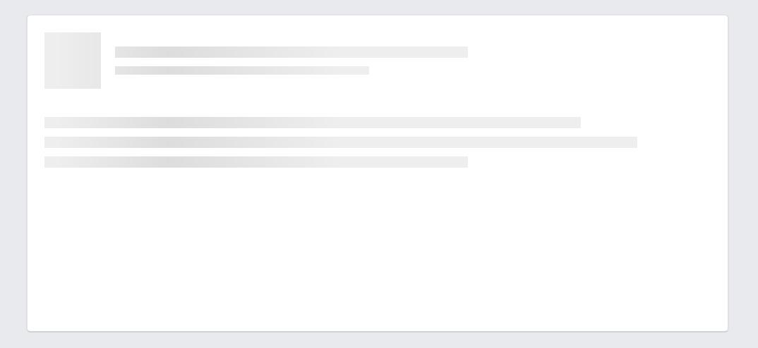 Sample Placeholder loading UI